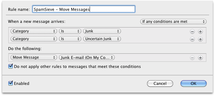 outlook sp1 move messages