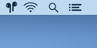 Easily connect to AirPods by clicking the icon in the menu bar or pressing a hotkey.