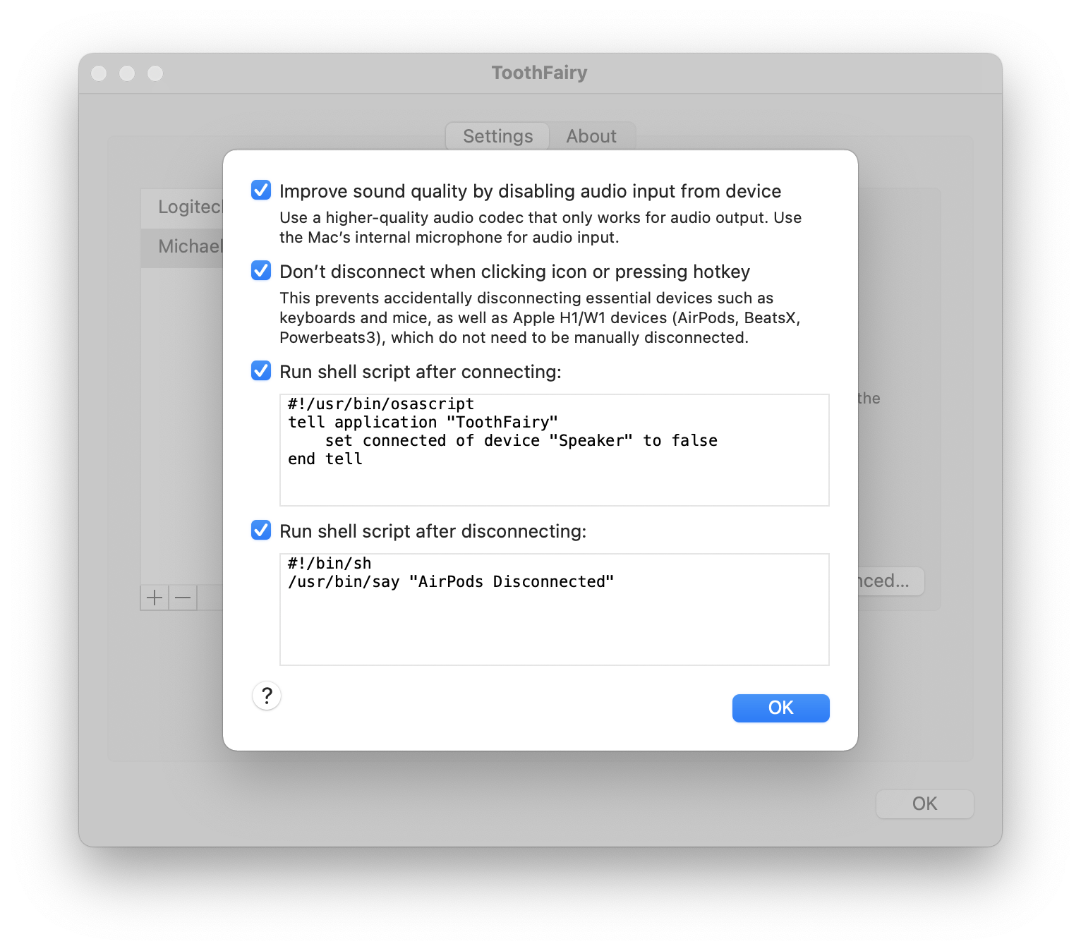 ToothFairy: AirPods and Bluetooth utility for Mac